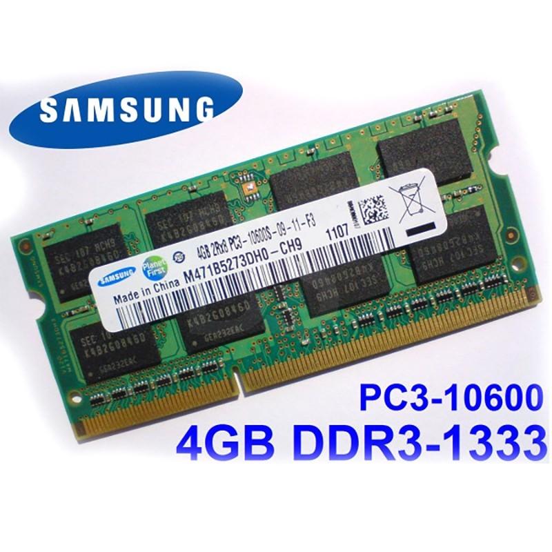 رم لپ تاپی 4 گیگ DDR3 باس 1333 سامسونگ