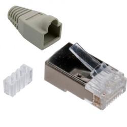 سوکت شبکه CAT6 FTP شانه دار با روکش
