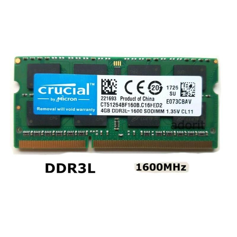 رم لپ تاپ 4 گیگ کروشیال DDR3 PC3L 1600-12800 1.35V