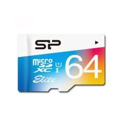 مموری میکرو 64 گیگ سیلیکون پاور کلاس 10 رنگی