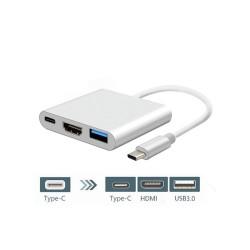 مبدل TYPE C به HDMI با یو اس بی و پاور