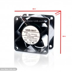 فن 12 ولت 1.5 آمپر بلبرینگی سایز 3.8*6*6