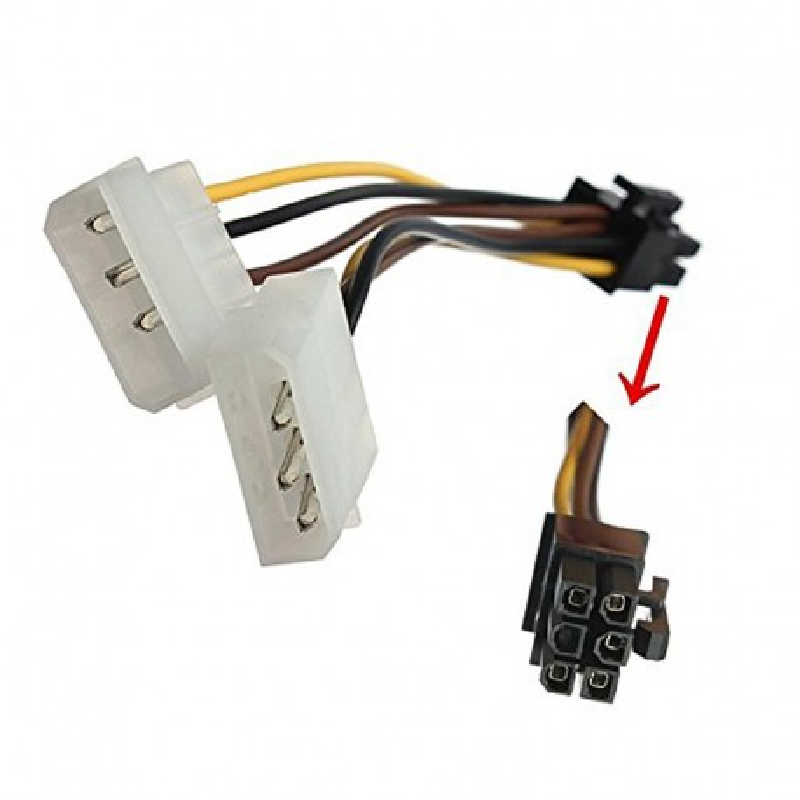 تبدیل برق ساتا به 6 پین گرافیک به 2 برق IDE