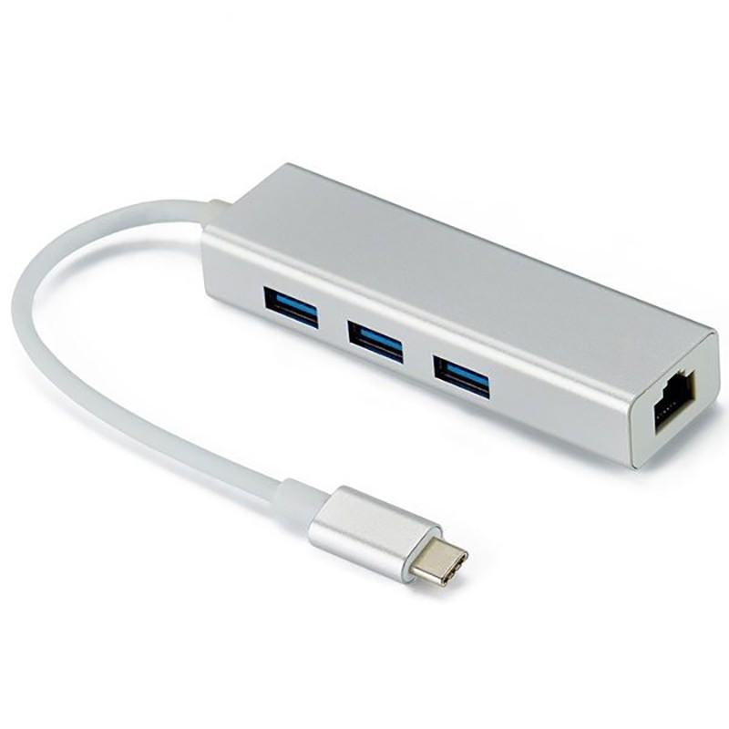 هاب USB TYPE C با پورت LAN