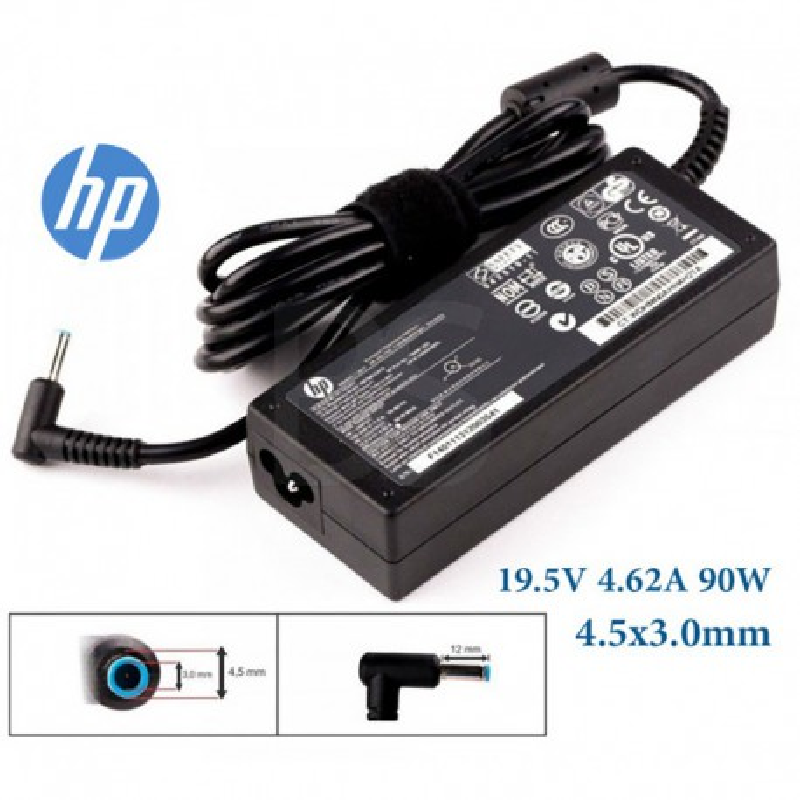 شارژر لپ تاپ HP سر آبی 19.5 ولت 4.62 آمپر