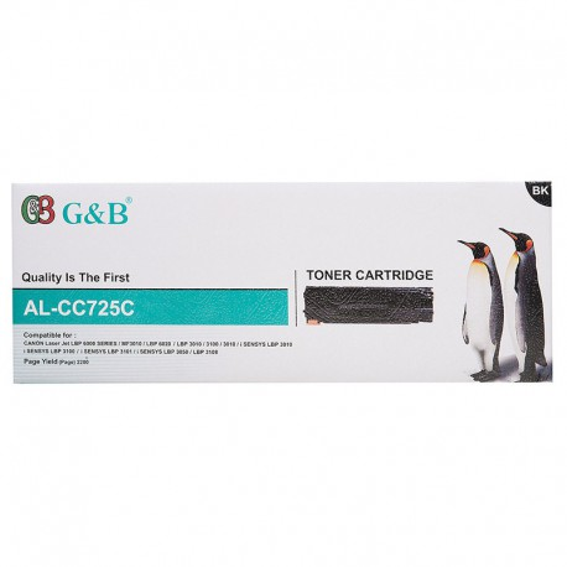 تونر کارتریج مشکی برند G&B مدل AL-CC725C
