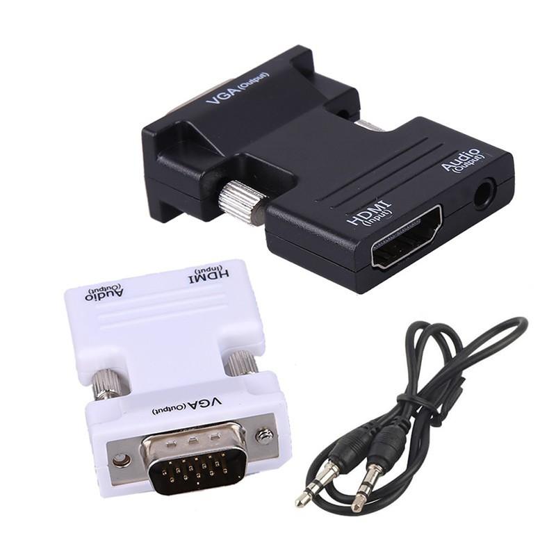 تبدیل HDMI ماده به VGA نر با صدا