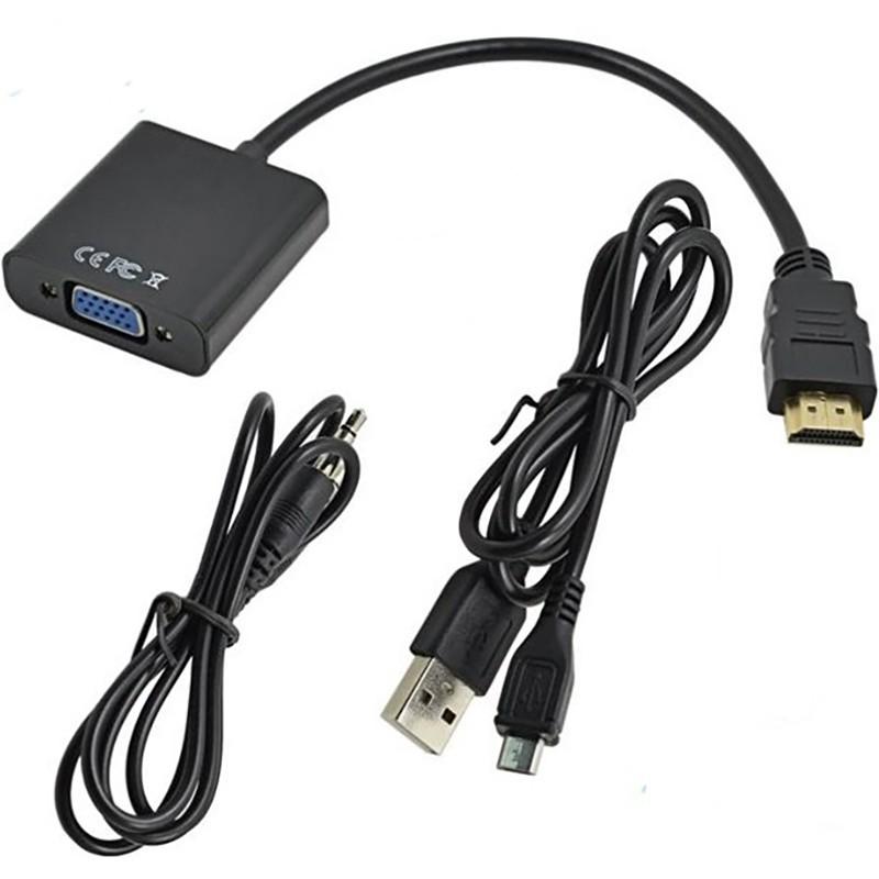 تبدیل HDMI به VGA با صدا و پاور