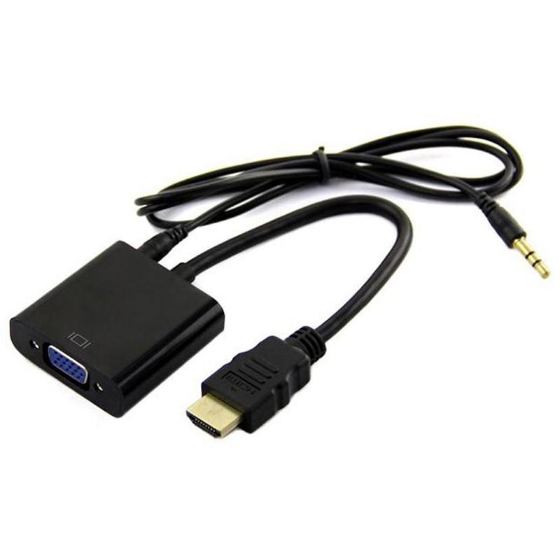 تبدیل HDMI به VGA با صدا مدل کابلی